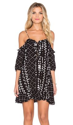 Tularosa Tionesta Dress in Black & White | REVOLVE