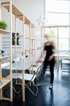 El concepto Ikea traducido en el diseño de interiores de un restaurante