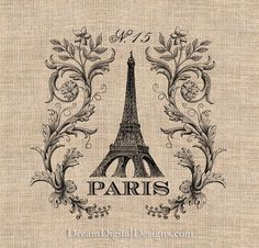 Paris Printable Image Download - Ephemera Vintage French Frame No.200
