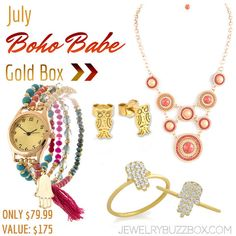 July Gold Buzz Box - only 79.99 for all of these great pieces! FREE S&H in the USA!