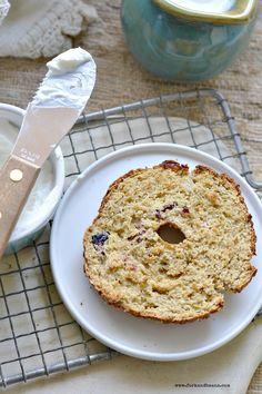 Gluten-Free Vegan Cranberry Orange Bagels - Fork & Beans