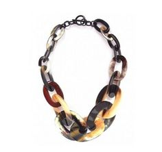 Horn Necklace Natural Lacquer, Handmade Charm VC031 by Dungcraft on Etsy