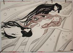 Różnie to wychodzi, ale lubię te prace - Węże wodne za Klimtem 2012