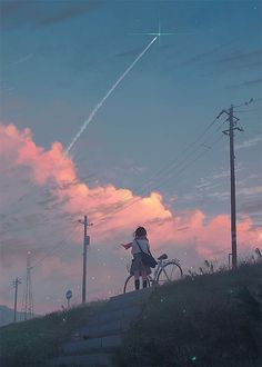 Discovered by SHΔCHI. Find images and videos about art, anime and manga on We Heart It - the app to get lost in what you love. Animes Wallpapers, Cute Wallpapers, Aesthetic Anime, Aesthetic Art, Scenery Wallpaper, Anime Scenery, Jolie Photo, Anime Art Girl, Aesthetic Wallpapers