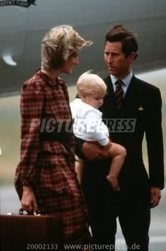 Charles and Diana with William