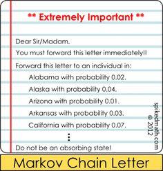 Markov Chain Letter