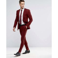 Discover the latest fashion & trends in menswear & womenswear at ASOS. Shop our collection of clothes, accessories, beauty & Maroon Suit, Burgundy Suit, Mens Skinny Fit Suits, Mens Suits, Looks Adidas, Groom And Groomsmen Suits, Designer Suits For Men, Mens Hawaiian Shirts, Sharp Dressed Man