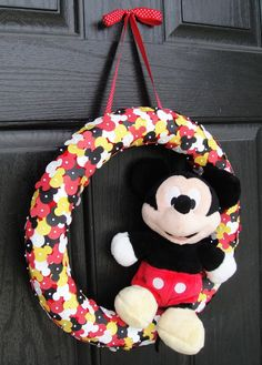how cute! mickey hole punch wreath