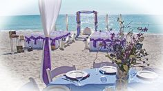Sand Petal Weddings offers the convenient rental service of beach style centerpieces for ease to the traveling destination bride. Blue Beach Wedding, Beach Wedding Reception, Wedding Canopy, Wedding Reception Centerpieces, Beach Wedding Decorations, Table Decorations, Reception Ideas, Wedding Ideas, Light Blue