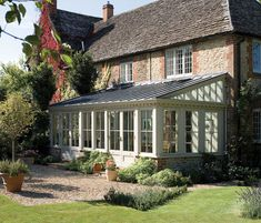 Orangerie / lean-to garden conservatory / sunroom. I'd love to build one atop my patio in the backyard...