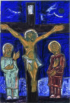 The crucifixion  Francis N Souza (1924-2002)