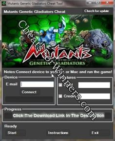 Mutants Genetic Gladiators hack cheats app