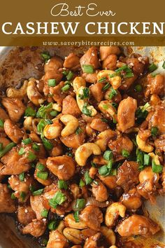 You will love this Cashew Chicken recipe. Very easy to put together just need to try out and you can make lettuce wraps,rolls,sandwich out of this cashew chicken.Enjoy this along with rice or noodles of your choice. chicken recipes So good Cashew Chicken! Chicken Cashew Stir Fry, Easy Cashew Chicken Recipe, Chicken With Cashews, Chicken Thigh Stir Fry, Good Chicken Recipes, Chinese Food Recipes Chicken, Slow Cooker Cashew Chicken, Almond Chicken, Gourmet