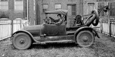 1915 type 51 Cadillac 5 passenger car + Weaver Autocrane Model G