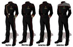 ASR Player's Manual Appendix K: Dress Uniforms - StarFleet Bureau of Information Star Trek Rpg, Star Trek Ships, Star Wars, Adventure Rpg, Marching Band Uniforms, Comic Clothes, Star Trek Online, Star Trek Cosplay, Star Trek Characters