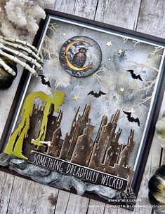 That's Life: Something Dreadfully Wicked. Halloween Paper Crafts, Halloween Tags, Halloween Quotes, Halloween Ghosts, Halloween Themes, Vintage Halloween, Fall Halloween, Halloween Decorations, Halloween Greetings