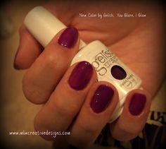 Gelish Manicure! Gel, Manicure, Purple, Gelish www.mlwcreativedesigns.com