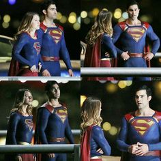 #Supergirl con #Superman #BTS                              …