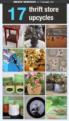 Cheap Repurposed Decor Idea Box by Selina Redesigns 17 Thrift Store Upcycles ~ I'm sending a shopping trip ~ these are gorgeous! Upcycled Crafts, Upcycled Home Decor, Repurposed Items, Repurposed Furniture, Diy Furniture, Diy And Crafts, Thrift Store Furniture, Business Furniture, Furniture Refinishing