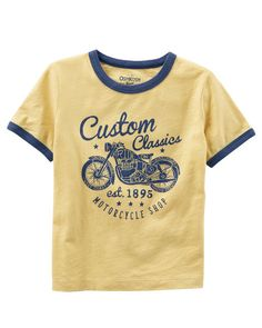 Kid Boy Moto Tee from OshKosh B'gosh. Shop clothing & accessories from a trusted name in kids, toddlers, and baby clothes.