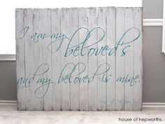 I am my Beloved's and my Beloved is mine. Song of Solomon. houseofhepworths.com