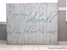 I am my Beloved's and my Beloved is mine. Song of Solomon. houseofhepworths.com