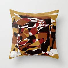 Abstract I Throw Pillow by SKCreations, LLC - $20.00