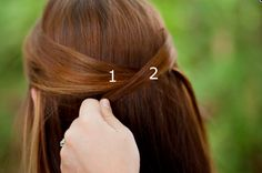 Or criss-cross your locks for a different take on half-up, half-down: