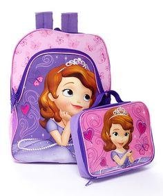 Sofia the First Backpack & Lunch Bag