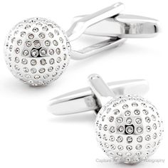 Keep the party going where ever you may be. The rhodium plating ensure that these disco balls keep shining while you style and profile. People will want to get down and boogie when you enter a room shinning with theses Disco Ball Cufflinks. Great accessory for DJ's and p...