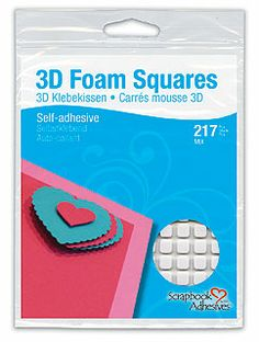 3D Foam Squares - Variety Pack of Regular and Small Sizes, White - 217 qty. High density 3D Foam Squares with permanent adhesives on both sides.