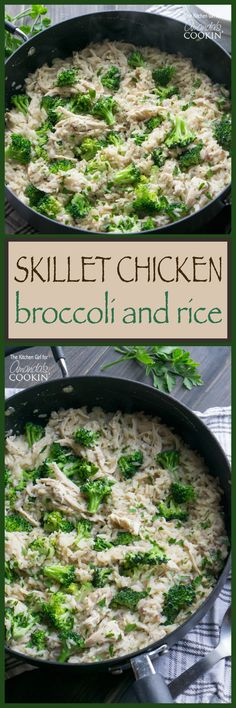 Skillet Chicken and Broccoli & Rice: Check out my new favorite way to make absolute magic happen with chicken, fresh broccoli, and white rice in one skillet