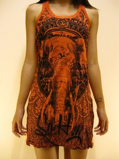 "buddha long tanks | Be the first to review ""Women's Tank Dress Wild Elephant Ohm ..."