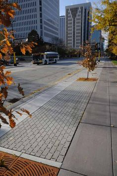 Brickstone Permeable pavers collect stormwater runoff on Marquette Avenue in downtown Minneapolis.