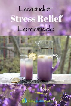 How to Make Lavender Lemonade to Get Rid of Headaches and Anxiety . #stress#relief#tips