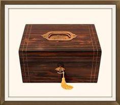 High Quality Antique Coromandel Jewellery Box. £300. http://www.theoldjewelleryboxshop.co.uk/prod2.cfm?product=91344