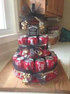 Jack & coke birthday cake # Jack & coke birthday cake # Best Picture For simple birthday cake For Your Taste You are looking for something, and it is goin Diy Birthday Cake, Birthday Cakes For Men, Birthday Gifts, Regalos Jack Daniels, Coke Cake, Alcohol Cake, Cake In A Can, Cake For Husband, Gift Baskets