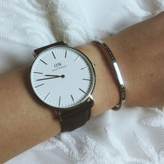 """Just got my new Daniel Wellington watch in today! I am in love with watches at the moment, they have so many different styles and are such good quality watches. I also got a matching cuff to go with my new watch! To get 15% off your order use the discount code """"MOMO6"""""""
