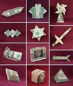 Free Money origami Folding patterns for men - Bing Images