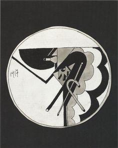 Fortunato Depero Architecture du bossu / Hunchback architecture Encre de Chine sur papier / Indian ink on paper 10.5 x 10.5 cm 1917