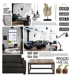 """""""LOFt"""" by fee4fashion ❤ liked on Polyvore featuring interior, interiors, interior design, home, home decor, interior decorating, Mitchell Gold + Bob Williams, Crate and Barrel, Zuo and Retrò"""