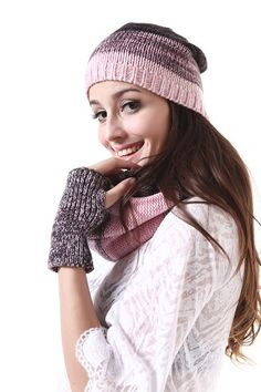 Pinks Mad Winter Combo [hat, scarf, & gloves]