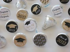 DIY Graduation Party Ideas | ... Party Printables: NEW Graduation Party Favors and Cupcake Toppers in