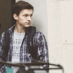 @tomholland2013 . . // Tom as Peter Parker// . . #tomholland #peterparker #spiderman #marvel #actor #spidermanhomecoming