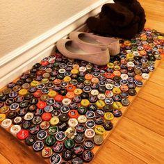 Bottle Cap Doormat by PearBurg on Etsy