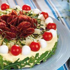 Mozzarella, salami och rucola – goda smaker från Italien.