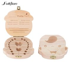 b92adfe973 Fulljion Tooth Box Baby Organizer Save Milk Teeth Wooden Box Container  Storage Toy Collecting