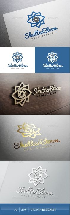 Shutter Bloom Photography - Logo Design Template Vector #logotype Download it here: http://graphicriver.net/item/shutter-bloom-photography-logo/9374830?s_rank=1280?ref=nesto