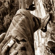 My forearms were quite pumped after a solid effort on the first of two crux…