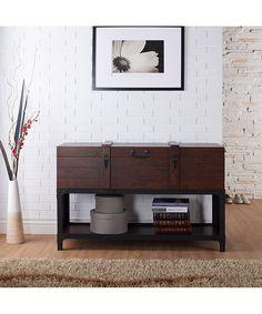 Serendipity Vintage Walnut Meilata Entryway Table   zulily